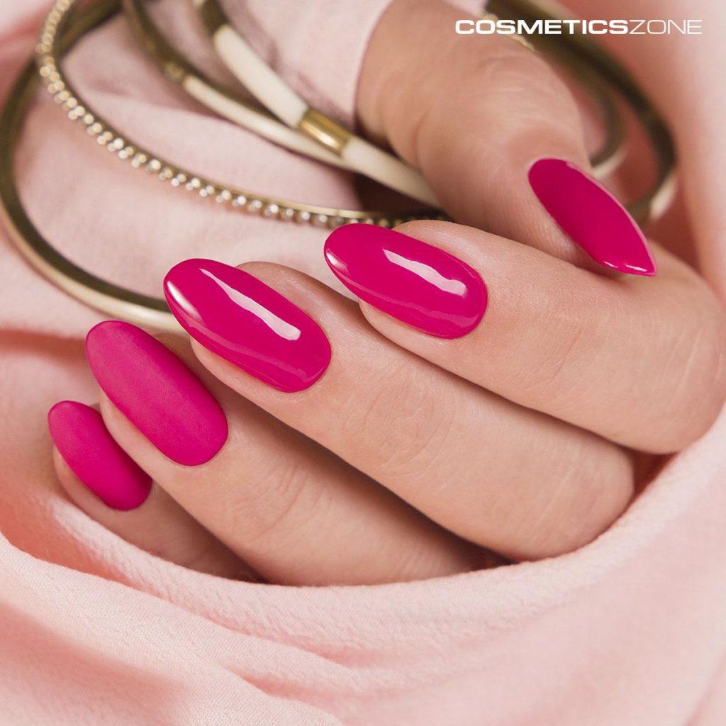 paznokcie z lakierem hybrydowym