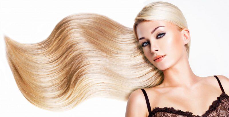 blond wlosy wyprostowane keratyna